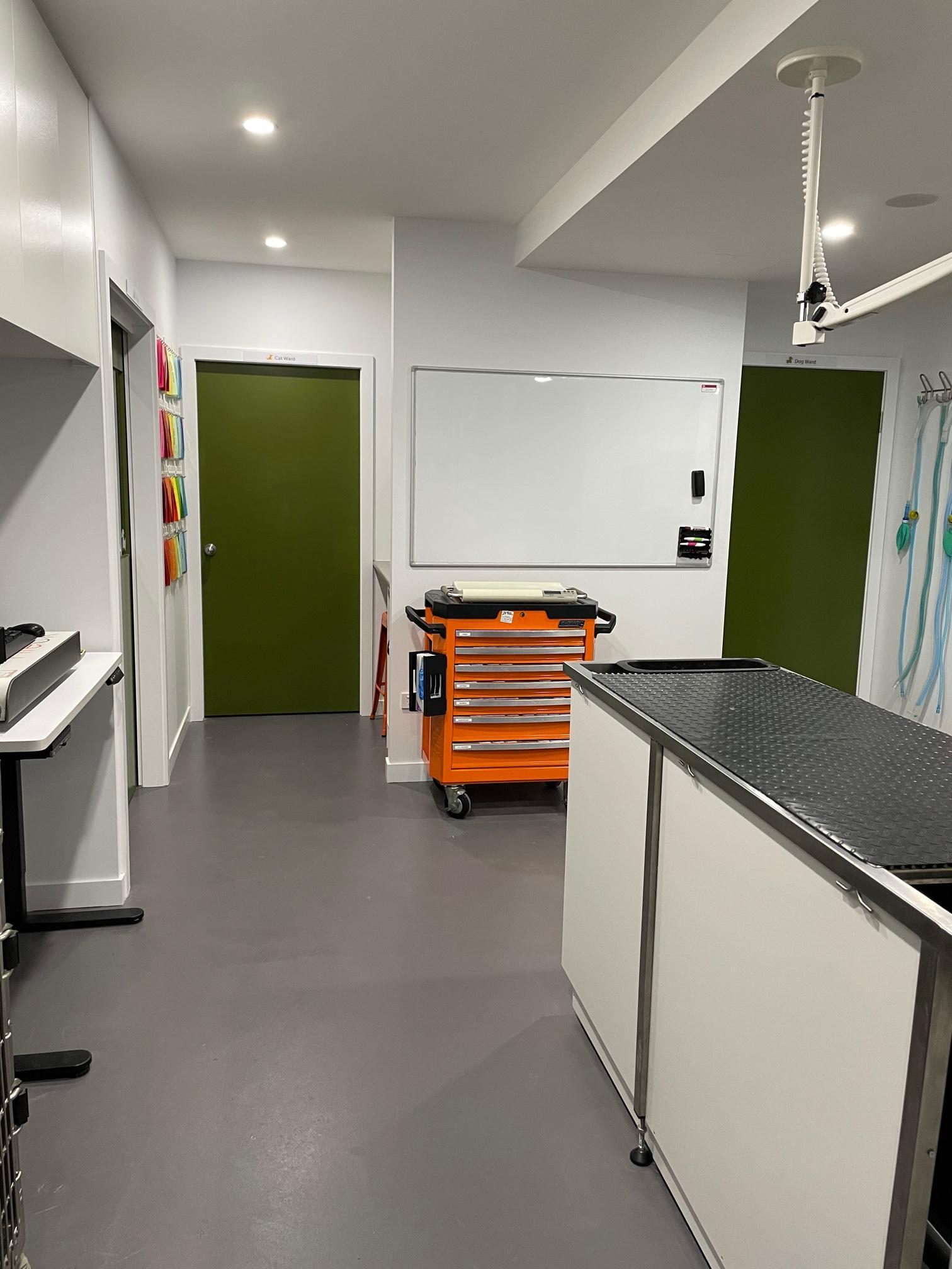 Downstairs Prep Area